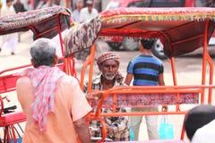 Driver del triciclo Immagini Stock