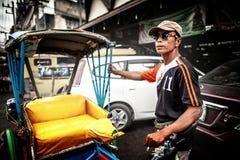 Driver del triciclo (legge del Sam) Fotografie Stock