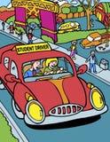 Driver dell'allievo con l'istruttore illustrazione vettoriale