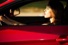 Driver della donna Immagine Stock