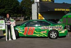 Driver della macchina da corsa, automobile dei busch del kyle Fotografia Stock