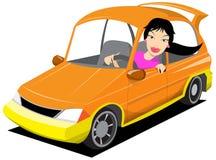 Driver della signora Immagine Stock