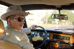 Driver di automobile classico Fotografia Stock Libera da Diritti