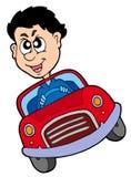 Driver di automobile pazzesco Immagine Stock