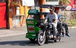 Driver di carrozza del triciclo Fotografie Stock