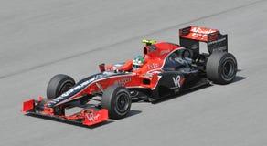Driver di corsa del Virgin Lucas di Grassi Fotografie Stock