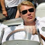 Driver di corsa finlandese Mika Pauli H?kkinen Fotografia Stock