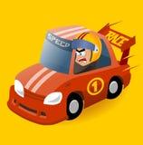 Driver di corsa pazzo di Nascar Fotografie Stock