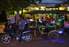 Driver di Tuk-Tuk della Cambogia Fotografia Stock Libera da Diritti