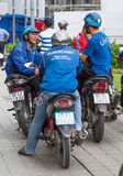 Driver di Ubermoto in Ho Chi Minh City Fotografia Stock