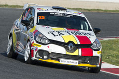 Driver Didac Ros. Clio Cup. Royalty Free Stock Photo
