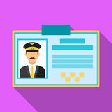 Driver document taxi.Plastik card taxi driver with photo Taxi station single icon in flat style vector symbol stock Stock Photo