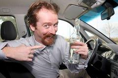 Driver ed alcool fotografia stock