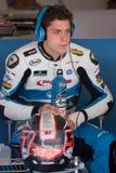 Driver Edgar Pons Team RacingPons FIM CEV Repsol Fotografia Stock Libera da Diritti