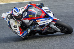 Driver Eduardo Salvador. BMW S1000RR. Royalty Free Stock Photo