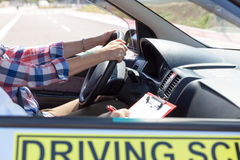 Driver education Royalty Free Stock Image