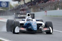 Driver Egor Orudzhev. Formula V8 3.5. At Circuit of Barcelona. Montmelo, Spain. November 6, 2016 Stock Image
