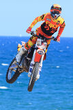 Driver El loco Miralles. FMX Freestyle. Stock Images