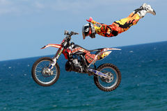 Driver El loco Miralles. FMX Freestyle. Stock Photos