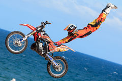 Driver El loco Miralles. FMX Freestyle. Royalty Free Stock Image