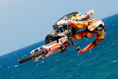Driver El loco Miralles. FMX Freestyle. Stock Image