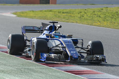 Driver Ericsson.  Team Sauber Royalty Free Stock Photo