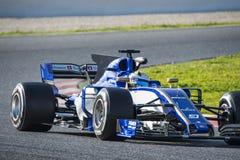 Driver Ericsson.  Team Sauber Royalty Free Stock Photography
