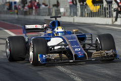 Driver Ericsson.  Team Sauber Stock Image