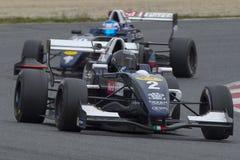 Driver Erwin Creed Formula di sfida immagine stock