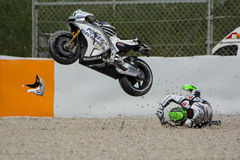 Driver EUGENE LAVERTY. ASPAR MotoGP TEAM stock photos