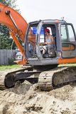 Excavator at the construction site. Royalty Free Stock Photos
