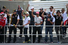 Driver F1 immagini stock
