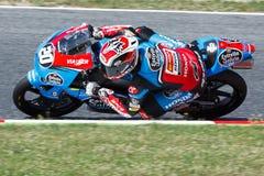 Driver Fabio Quartararo Team Estrella Galicia FIM CEV Repsol Fotografia Stock Libera da Diritti