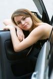 Driver faticoso. Fotografia Stock