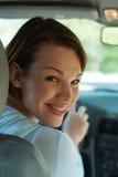 Driver felice Immagine Stock