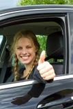 Driver felice Fotografia Stock