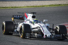 Driver Felipe Massa.  Team Williams Royalty Free Stock Photo