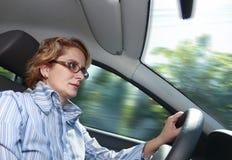 Driver femminile Fotografia Stock