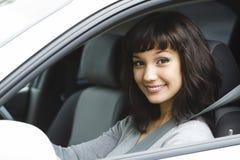 Driver femminile grazioso Fotografia Stock Libera da Diritti