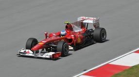 Driver Fernando Alonso di Scuderia Ferrari Marlboro Fotografia Stock