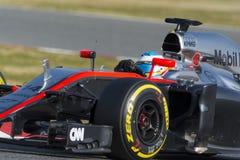 Driver Fernando Alonso Squadra McLaren Fotografie Stock Libere da Diritti