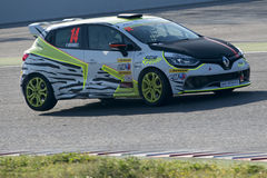 Driver Ferran Mendez. Clio Cup Royalty Free Stock Images