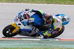 Driver Fran Rodriguez Team Suzuki FIM CEV Repsol Fotografie Stock