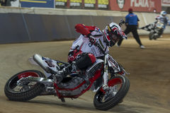 Driver Franc Serra. Dirt Track Superprestigio competition Royalty Free Stock Image