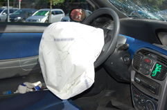 The driver front airbags Royalty Free Stock Photo