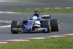 Driver Giovinazzi.  Team Sauber Royalty Free Stock Photography