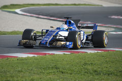 Driver Giovinazzi.  Team Sauber Royalty Free Stock Image