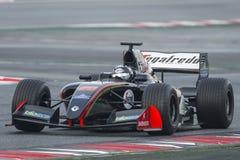 Driver Giuseppe Cipriani.  Formula V8 3.5. At Circuit of Barcelona. Montmelo, Spain. November 5, 2016 Royalty Free Stock Photos