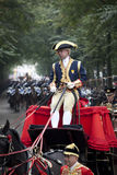 Driver golden carriage Stock Photography
