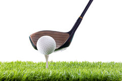 Driver with golf ball Royalty Free Stock Photo